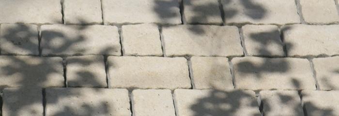石調インターロッキングブロックのエクステリアリフォーム